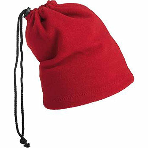 MYRTLE BEACH - bonnet cache cou 2 en 1 - MB7618 - coloris rouge - col roulé transformable en bonnet par cordon de serrage - mixte homme/femme