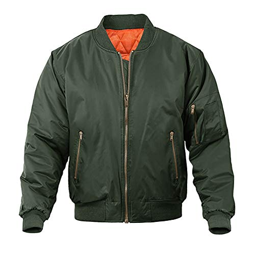 MAGNIVIT Men's Bomber Jacket Active Casual Fall Winter Coats Outwear Army Green