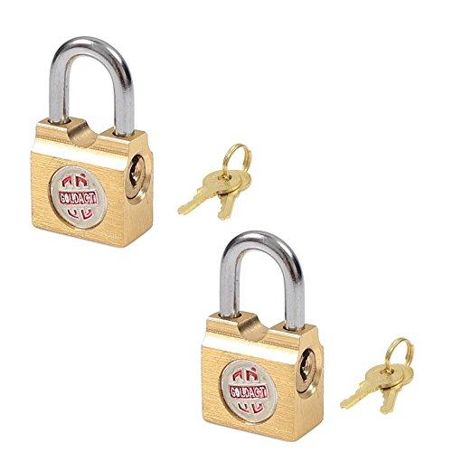 2X Small 15mm Brass Padlocks - Suitcase/Luggage Locks