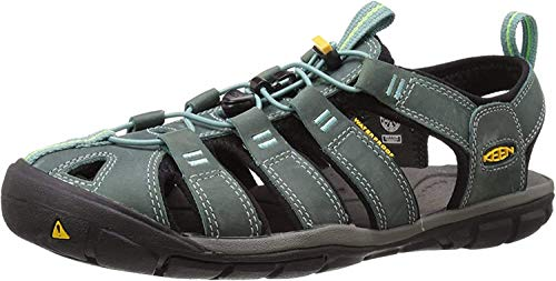 Keen Damen Clearwater CNX Leather Aqua Schuhe, Mehrfarbig (Mineral Blue/Yellow 1014371), 38.5 EU