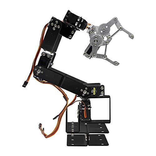 diymore Alluminio Robot Braccio Meccanico Kit Morsetto per Artigli con MG996R Servos per Arduino Uno MEGA2560