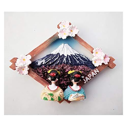 MINGQIMY Calamite Lavagne Frigo Adesivi magnetici del Frigorifero del Souvenir del Souvenir del Danno del Magnete del frigo (Color : Mount Fuji Girl)