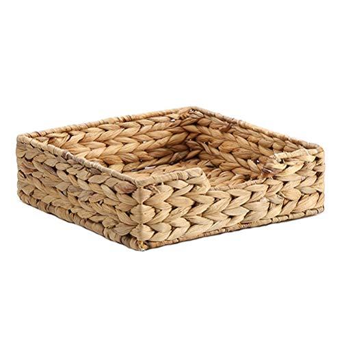 Cesta de mimbre tejida a mano, cesta para decoración de sala de estar, caja de servilletas de restaurante, cesta de almacenamiento con control remoto