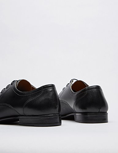 FIND Derby Schuhe Herren mit Blockabsatz, Schwarz - 5