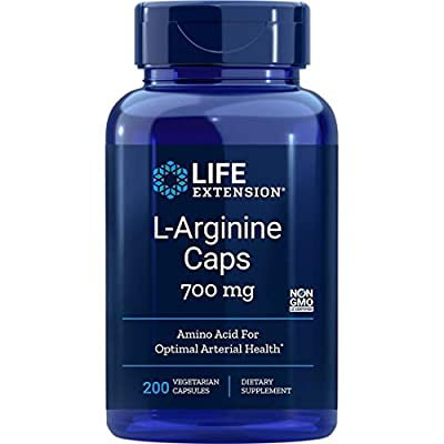 Life Extension L-Arginine Caps (700mg, 200 Vegetarian Capsules) by Life Extension
