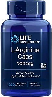 Life Extension Arginine Capsules 700 mg, 200 Vegetarian Capsules