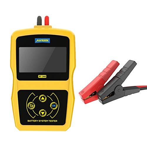 GoolRC Probador de Diagnóstico de Batería de Coche de 12 voltios BT360 Probador de Batería de Automóvil Analizador de Batería de Automóvil Analizador de Vehículo