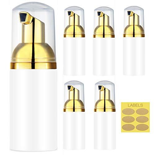 MYLL 6 Piezas 30ml Bomba Dispensador de Jabón Espuma, Rellenables Botella de Espuma, Dispensador Jabon Mousse para Lavar a Mano, Cocina, Baño (Oro)