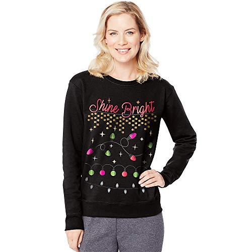 Hanes Women's Ugly Christmas Sweatshirt, Black, 2X Large
