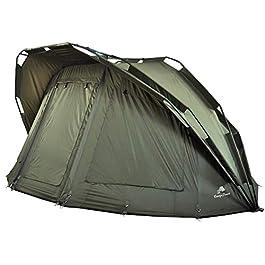 CampFeuer Tente de Peche à la Carpe Hurricane I 2 Place Tente Carpe I 2 Personnes Tente de pêche I avec Colonne d'eau de…