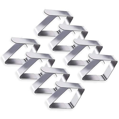 8 Piezas De Clips De Mantel De Acero Inoxidable Engrosado, Clips Para...
