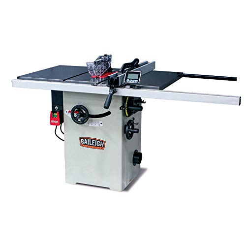 Baileigh TS-1044H Hybrid Style Table Saw, 110/220V, Single Phase (Prewired 110V), 10'