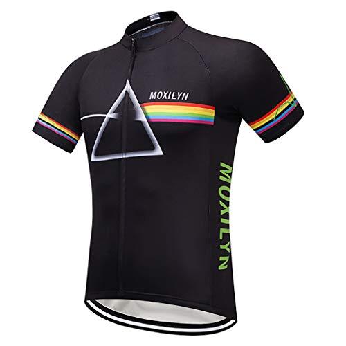 Moxilyn Radtrikots für Herren, Radsport-Oberteile, Radsport-Skinsuit-Trikots, Radbekleidung, Mountainbike/MTB-Shirt, atmungsaktiv und schweißabsorbierend, schnell trocknend