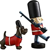 VAWAA Creative Living Room, Nutcracker, Puppet Ornaments, British Soldiers Home Decorations Wine Sets Soft Decoration