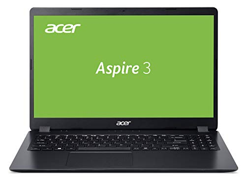Acer Aspire 3 (A315-56-38QL) 39,6 cm (15,6 Zoll Full-HD matt) Multimedia Laptop (Intel Core i3-1005G1, 8 GB RAM, 256 GB PCIe SSD, Intel UHD Graphics, Win 10 Home im S Modus) schwarz