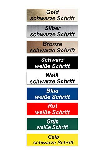 2-Stueck-Klingelschild selbstklebend, MADE IN GERMANY -Tuerschild-Namensschild-Briefkastenschild-mit-Gravur
