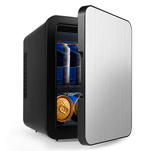 Mini Fridge with Cooler and Warmer, Small 4 Liter Large...