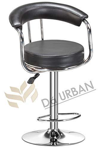 Da URBAN Classic Height Adjustable Bar Stool Chair (Black) (1 Pc)
