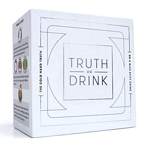 Truth or Drink Fun Drinking Card Game for Adults | Waterproof Cards, Over 400 Questions Included |...