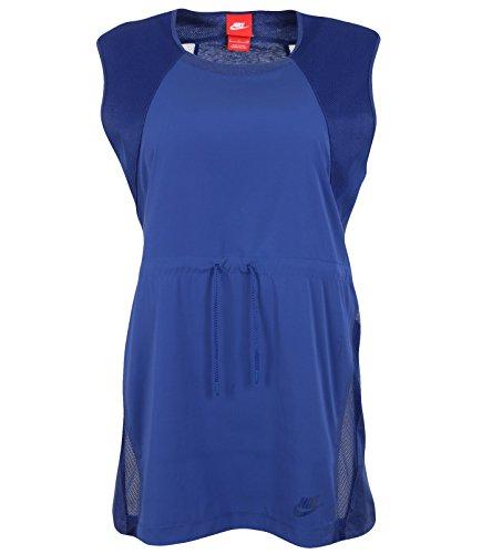 Nike Bonded Top Damen T-Shirt M Azul (Deep Royal Blue/Htr/Deep Royal Blue)