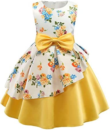 AIMJCHLD Party Dress for Toddler Little Baby Girls Flower Wedding Dresses Pageant Prom Ball product image