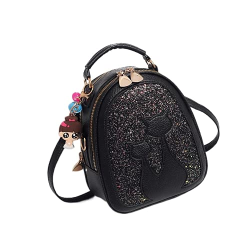 YIXIN Mochila de moda para gato Mochila de cuero de la PU del estilo lindo de la señora mochila casual