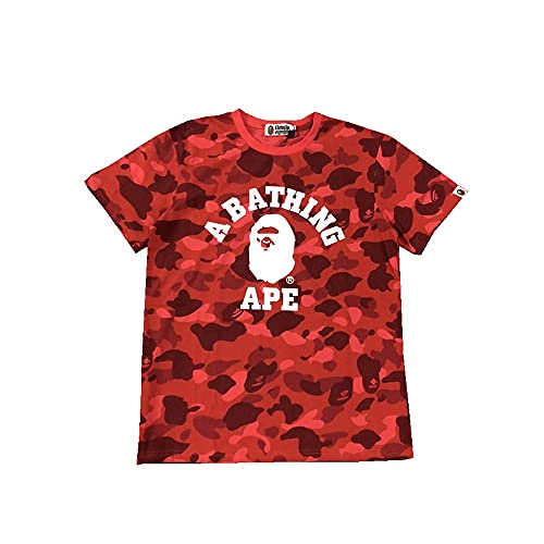 Casual Shark Ape Bape Camo Unisex T-Shirt Trend Shirt Crewneck Summer Short Sleeve Tees for Mens & Womens