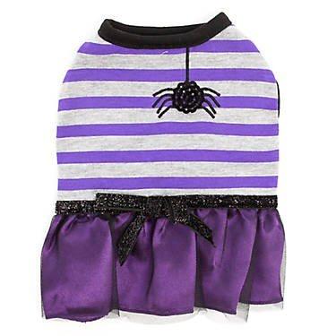 Emoções e calafrios, vestido de aranha listrado de Halloween ~ PP ~
