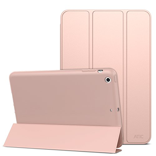 ATiC Case for iPad Mini 3 / 2 / 1, Slim Smart Stand Case with Soft TPU Back Cover for Apple iPad Mini 1 (2012) / iPad Mini 2 (2013) / iPad Mini 3 (2014), Rose GOLD (Not fit iPad Mini 4)