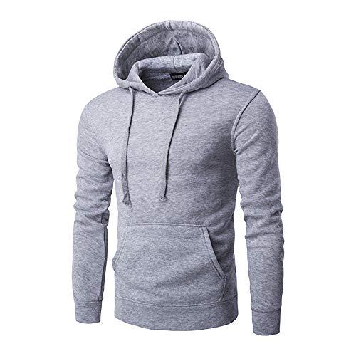 NLZQ Männer Sweatshirt Herren Casual Hoodies Top Bluse Trainingsanzüge Einfarbiger Slim Fit Hoodie Känguru-Tasche top 2020 Herbst/Winter neues Fitness-Sweatshirt M