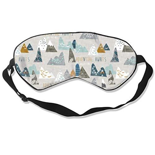 Schlafmaske, bunte Berge, Seide, Maske mit verstellbarem Kopfband, Block, leichtes Nickerchen