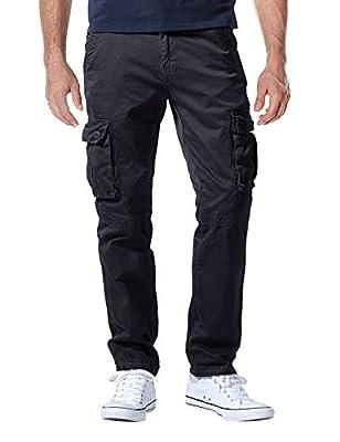 Match Men's Casual Wild Cargo Pants Outdoors Work Wear #6531(32,Grayish Black)