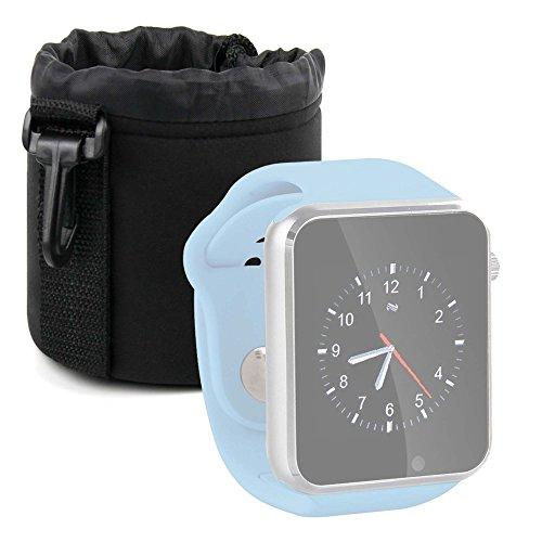DURAGADGET Bolsa Negra para Reloj YuanGuo | Smarter | Smartlife YG8 | Stoga ST-DM360 | Turnmeon | Viwel | VOSMEP - Ligero para Transportar