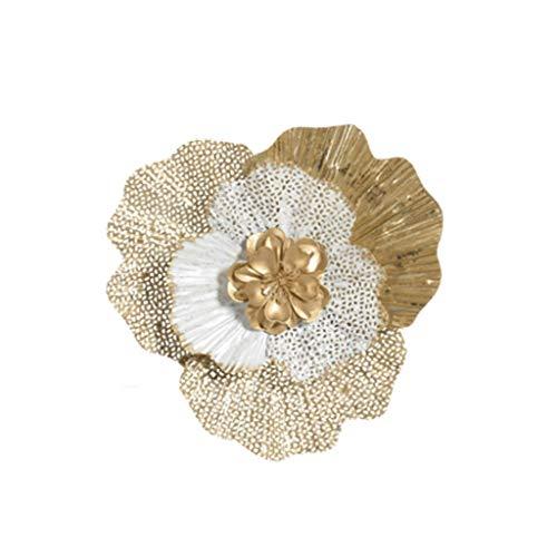 JYDQM Moderno Hierro Flower Flower Decoración Colgante Salón Fondo de Pared Ornamentos Colgantes de la Pared Hotel Pórch Fotomural Arte Artesanal (Size : Medium)