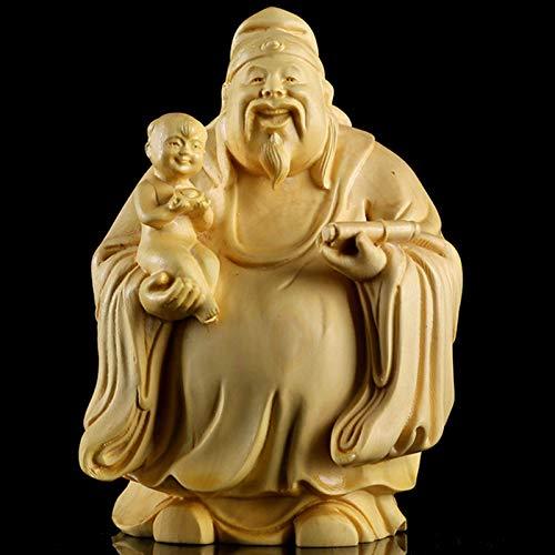 DYB Estatuas Fu Lu Shou para decoración del hogar, Juegos de Tres Dioses, estatuilla, Escultura, Oficina, Sala de Estar, decoración, cumpleaños, B