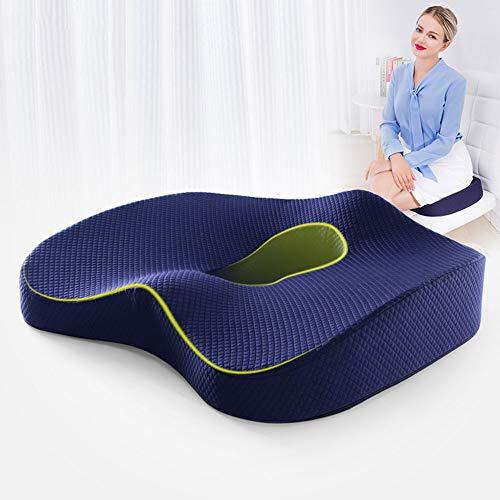 N A Seat Cushion,Comfortable Office Chair Cushion for Butt,Tailbone Pain Relief Cushion for Sciatica/Pressure Relief, Premium Memory Foam Seat Cushion for Office Chair/Car Seat/Wheelchair