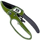 EZ Kut Heavy Duty Pruning Shears - Ratchet Hand Pruner - Great Garden Hand Tool - Gardening Gift, Arthritis Tools. Since 1988