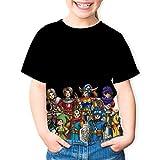ドラゴンクエスト 子供Tシャツ 可愛い フルフレーム印刷 半袖 男の子と女の子に適しています4-16歳 Youth L