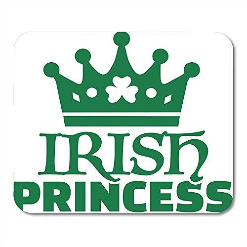 Mauspads Celebration Paddy Irische Prinzessin Grün Kleeblatt Krone Bier Keltische Mauspad für Notebooks Computer – 24,9 x 19,8 cm