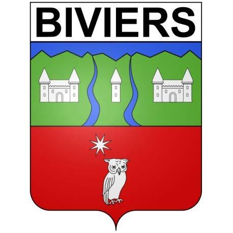 Biviers 38 City Sticker Wappen selbstklebend – Größe: 8 cm