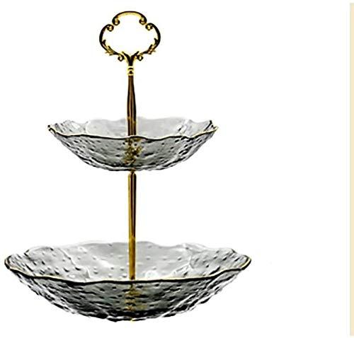 frutero fruteros de cocina Transparente Cupcake Stand Bandeja De Frutas De Cristal...