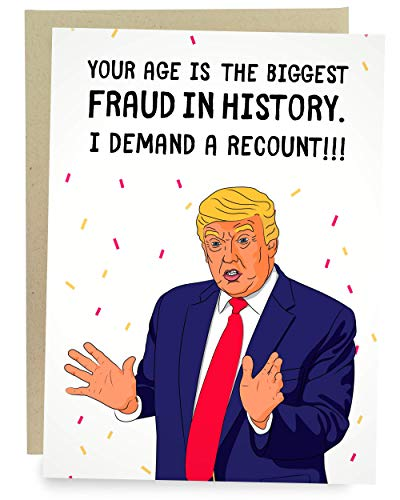 Sleazy Greetings Funny Donald Trump Happy Birthday Greeting Card | Political Bday Congratulations Recount Fraud Card