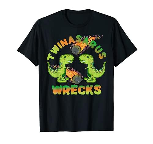 恐竜の双子 Twinasaurus 難破流星 T-Rex Brothers キッズ Tシャツ