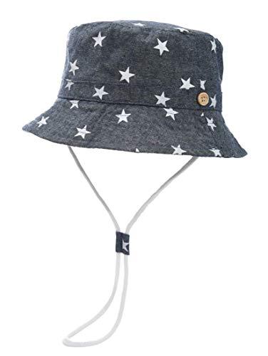 Foruhoo Baby Sonnenhut Kinder Hut, Sommerhut Mütze for Jungen Mädchen mit Verstellbar Kordelzug (52cm / 2-4 Jahre,dunkelblau)
