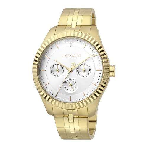Esprit Flute ES1L202M0085 - Reloj multifunción para mujer, día de la semana y fecha, 24 horas