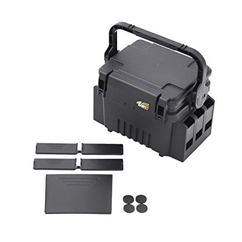Meiho VS 7055 31,3x23,3x22,2cm schwarz - Tacklebox für Kunstköder, Angelbox für Wobbler & Gummifische, Kunstköderbox, Angelkasten