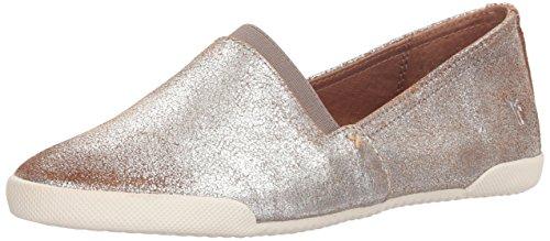Frye Women's Melanie Slip On Sneaker, Silver/Multi, 9.5 Medium US