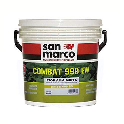 San Marco COMBAT 999 EW pittura traspirante igienizzante antimuffa per interni colore bianco, size 14 lt