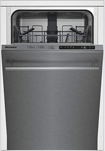 Blomberg DWS51500SS 18 Inch Built In Fully Integrated Dishwasher in Fingerprint Free Stainless Steel