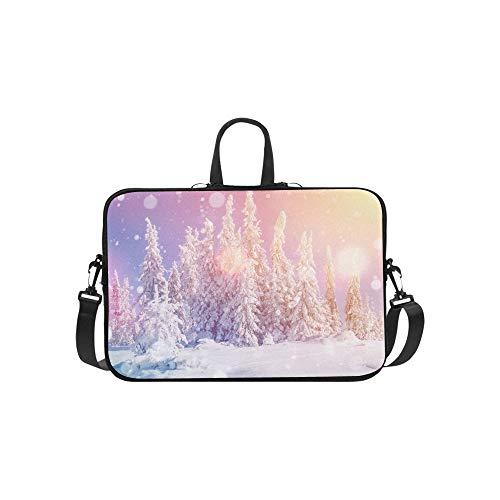 Mágico Paisaje Invernal Un maletín Suave Bolso Laptop